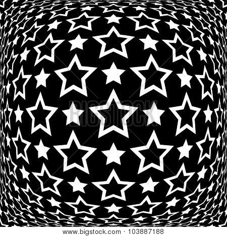 Stars pattern. Abstract textured background. Vector art.