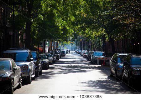 NEW YORK CITY, USA - SEPTEMBER, 2014: Street scene in Manhattan New York City