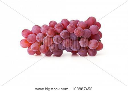 Beautiful grapes isolated on white