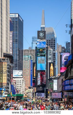 NEW YORK CITY, USA - SEPTEMBER, 2014: Times Square New York City