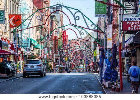 NEW YORK CITY, USA - SEPTEMBER, 2014: Little Italy in New York City