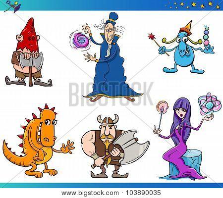 Fantasy Characters Cartoon Set