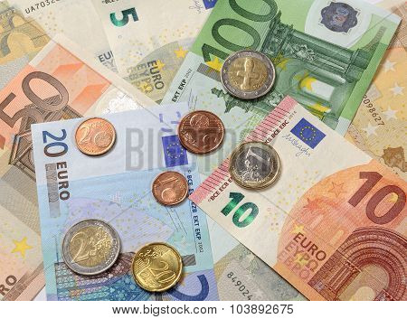 Cash Currency Euro