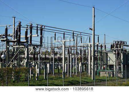 electrical substation or transformer station