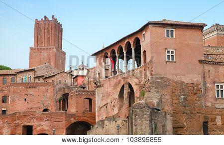 Imperial Forums In Rome Italy, Popular Landmark