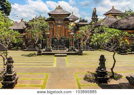 Hindu Temple Near Ubud, Blue Sky - Bali, Indonesia