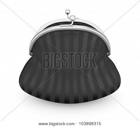 Black Purse Isolated On White Background. 3D.