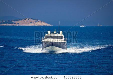 Yacht View On Bule Sea