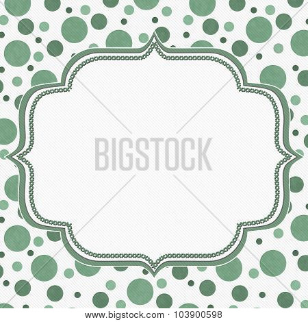 Green And White Polka Dot Frame Background