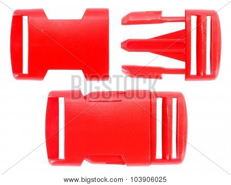 Red plastic buckle