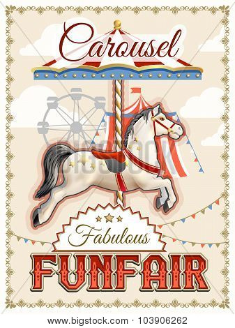 Retro Carousel Poster