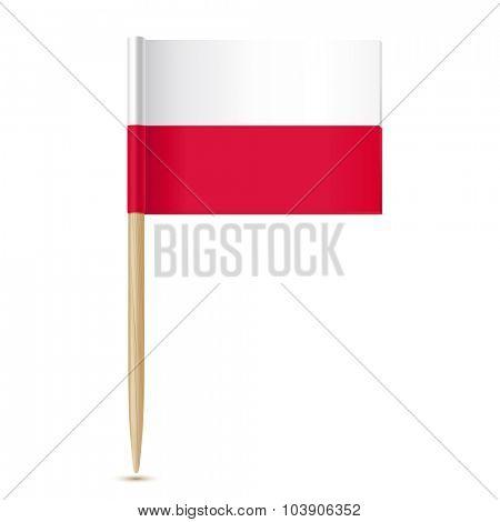 Poland flag. Flag toothpick