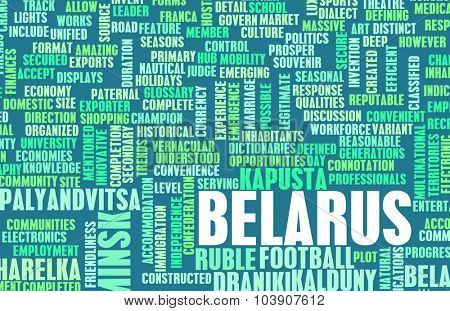 Belarus as a Country Abstract Art Concept