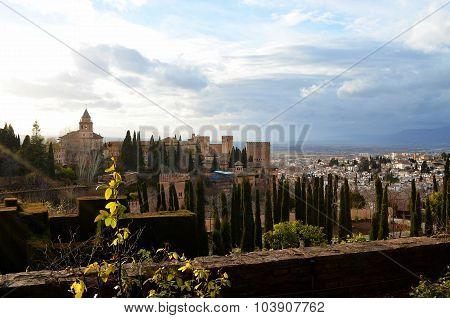 Sunshine in Alhambra (Granada, Spain)