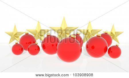Christmas balls, isolated on white background.