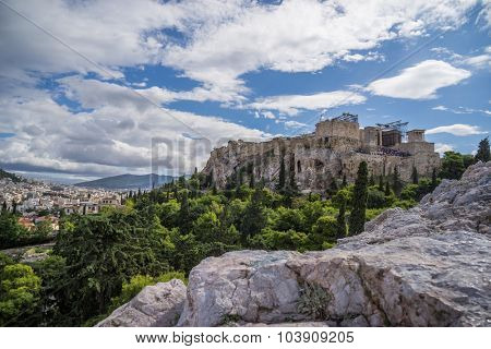 The Acropolis of Athens with overview on the city