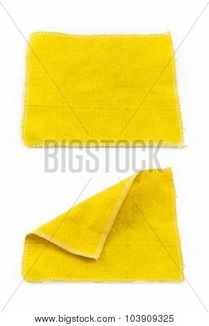 Lens Cleaning Cloth Isolated On White