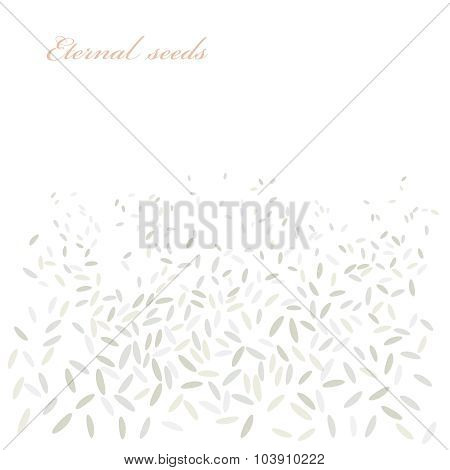 Rice Vector Background