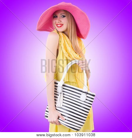 Young attractive woman ready for summer vacation