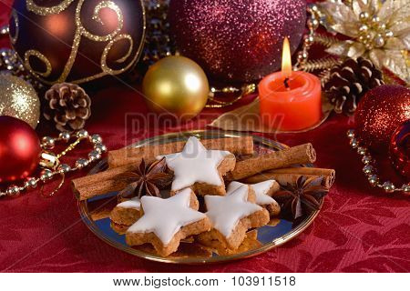 Christmas Tree Ornaments And Cookies