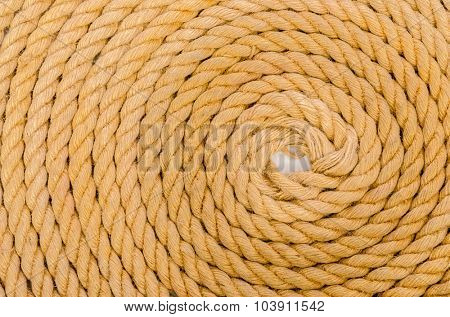 Close up of rope arranged as background
