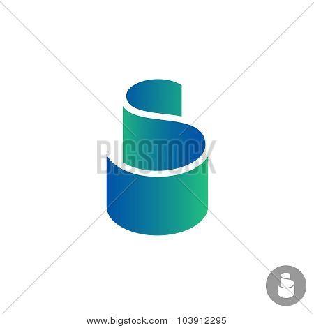 S Letter Color Ribbon Logo Template