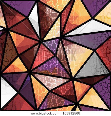 Geometric pattern with grunge effect.