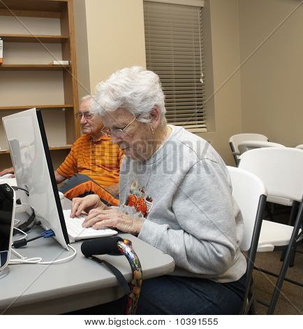 Working Hard On The Computer