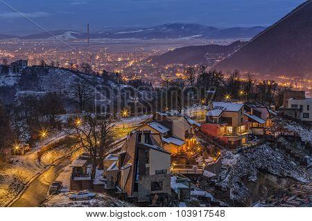 Winter Night City Lights