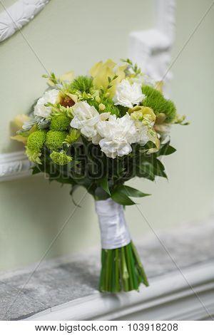 Bridal Bouquet Of Various Flowers