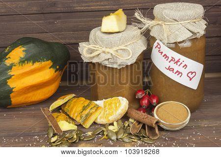 Domestic production pumpkin marmalade