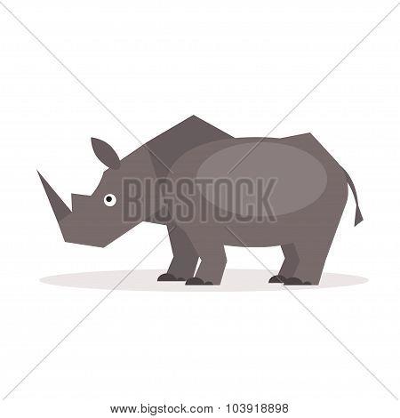Rhinoceros. Vector Illustration