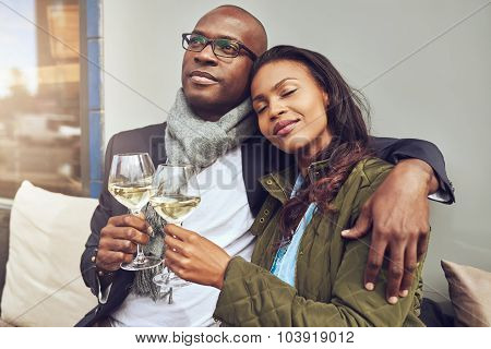 Blissful Romantic Young Couple