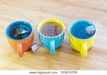 Cups Of Healthy Hot Green Tea