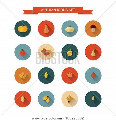 Autumn icons set