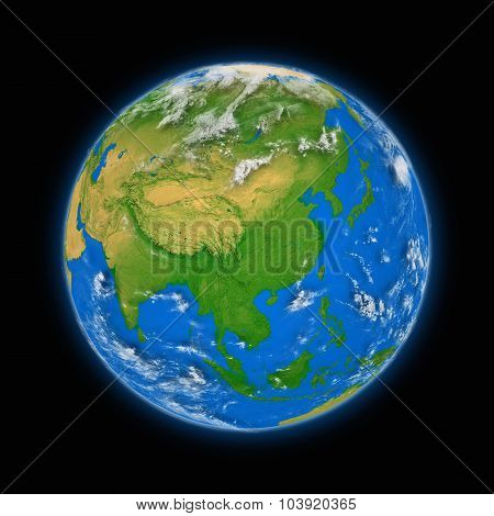 Southeast Asia On Planet Earth