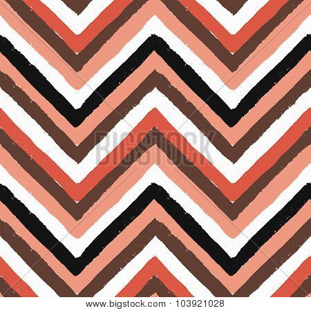 Vector Chevron Salmon Seamless Pattern