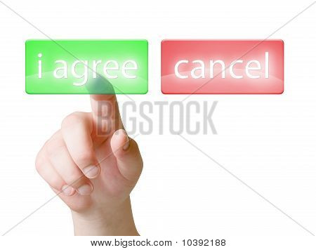 Choise touch screen buttons