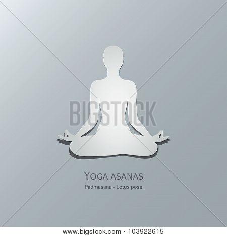 Yoga asanas. Padmasana. Lotus pose.
