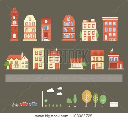 Vector Town Set
