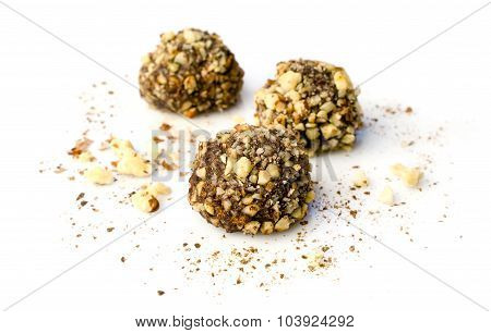 Truffles Candies With Walnuts
