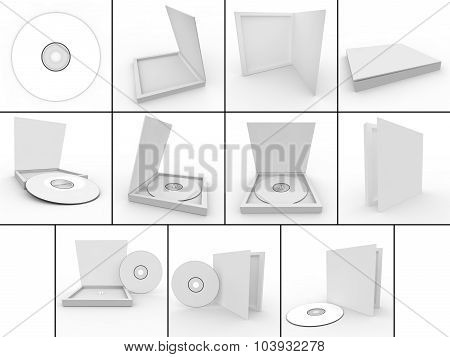 Collection. Blank White Form - A Disc In A Box