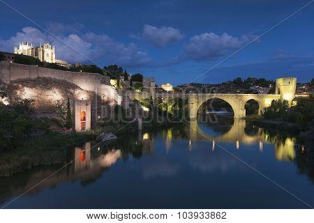 St Martin Bridge, Toledo, Castilla La Mancha, Spain