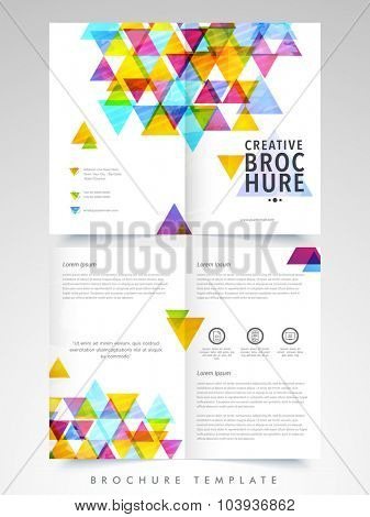 Professional Business Brochure, Template or Flyer design with front and back side presentation.