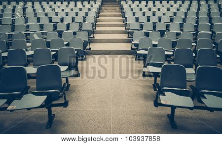 Empty lecture chair