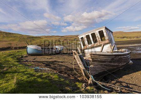 Shipwrecks At The Coastline