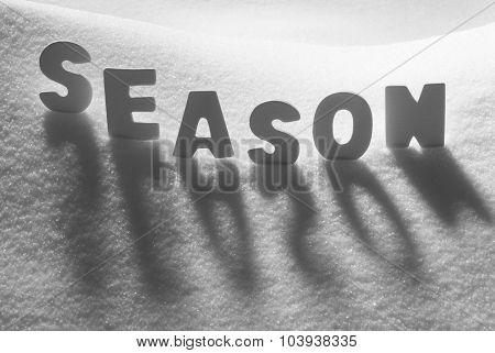 White Word Season On Snow