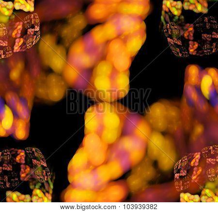 3d abstract fractal illustration for creative design