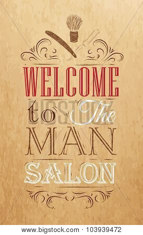 Poster Barbershop Brown