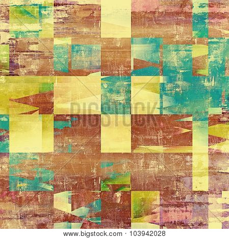 Old texture as abstract grunge background. With different color patterns: yellow (beige); brown; blue; green